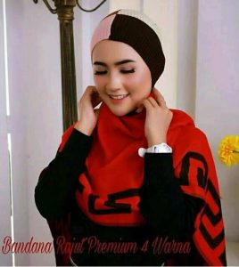 Jual Bandana Rajut Premium 4 Warna