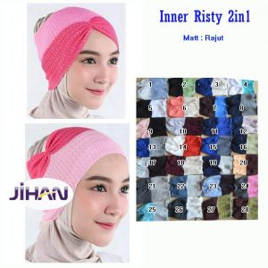 Grosir Jilbab Anak INNER RISTY 2 in 1