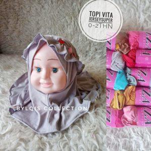 Topi vita grosir jilbab anak