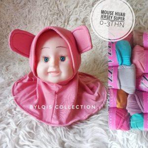 Cute mouse hijab grosir jilbab anak