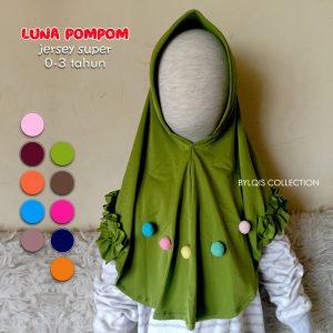 Luna pompom grosir jilbab anak