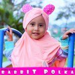 Rabbit polka grosir jilbab anak