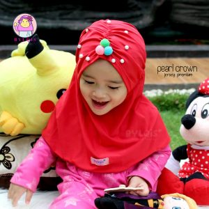 Jilbab anak pearl crown
