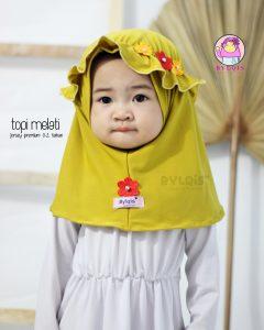 Jilbab anak topi melati