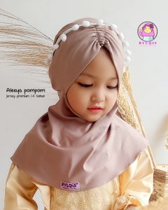 Jilbab anak aleeya pompom