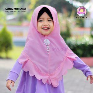 Jilbab anak plong mutiara