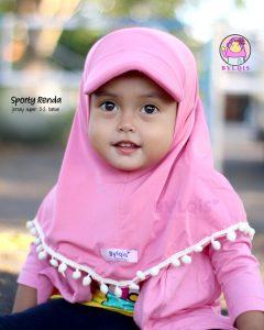 Jilbab anak sporty renda