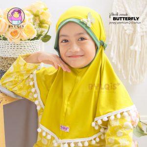Jilbab anak butterfly