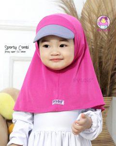 Jilbab anak sporty combi